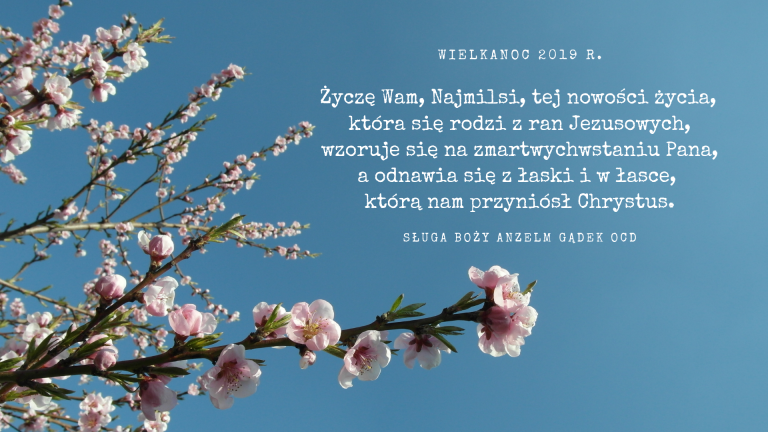 Życzenia naświęta Zmartwychwstania Pańskiego dla Sióstr Karmelitanek Dzieciątka Jezus. Warszawa 8 kwietnia 1949. (fragment)